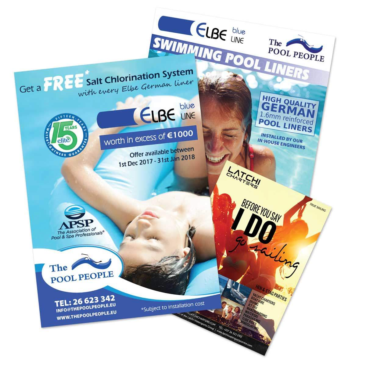 Gecko Design print production and adverts for magazines, newspapers, brochures and business cards