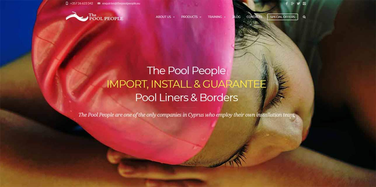 The Pool People in Peyia have a New Website