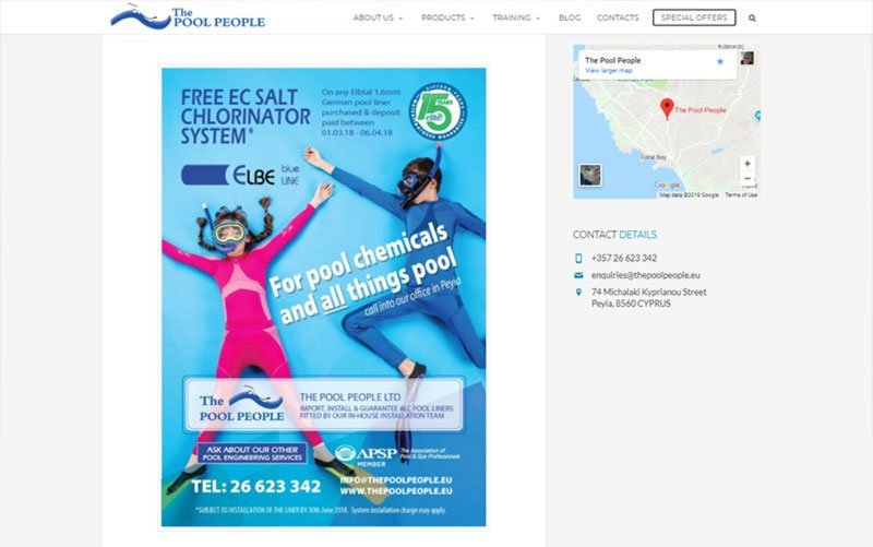 The Pool People, Cyprus - clean pools, healthy pools and safe pools