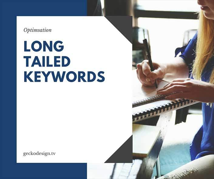 long tail keywords for optimisation | gecko design