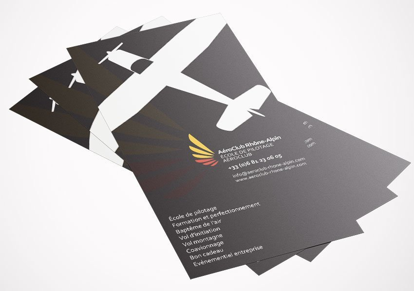 Stationary created for Aeroclub Rhone-Alpin