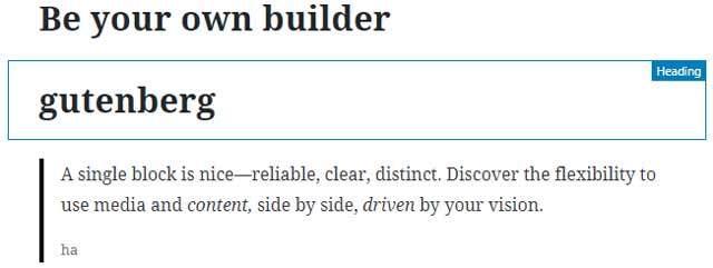 gutenberg block highlight options | Gecko Design