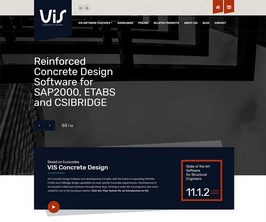 VIS Concrete Design Software by CSi Italia | Gecko Design Cyprus