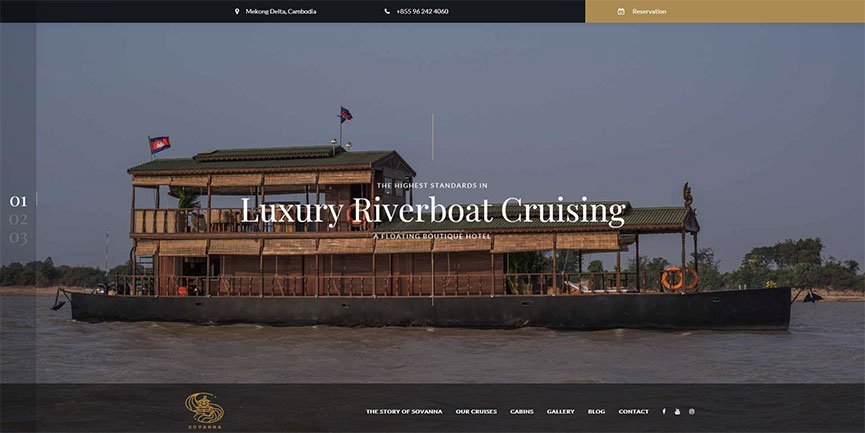 Sovanna - Cambodian River Cruises Website by Geck, Cyprus Website Design
