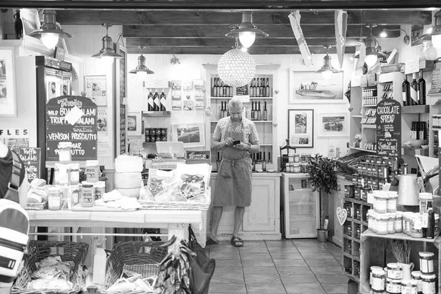 An empty shop...