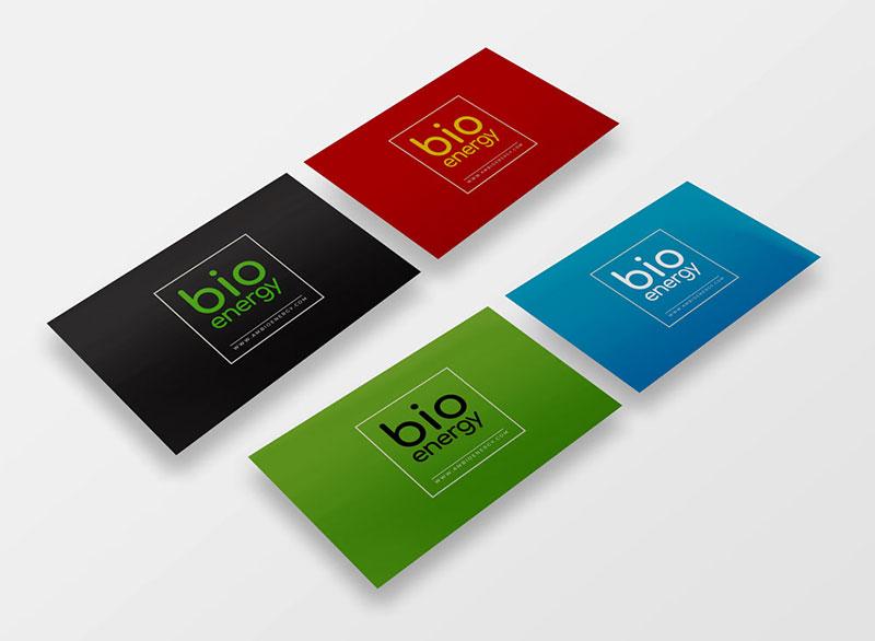 bioenergy cyprus business cards by gecko, cyprus print design