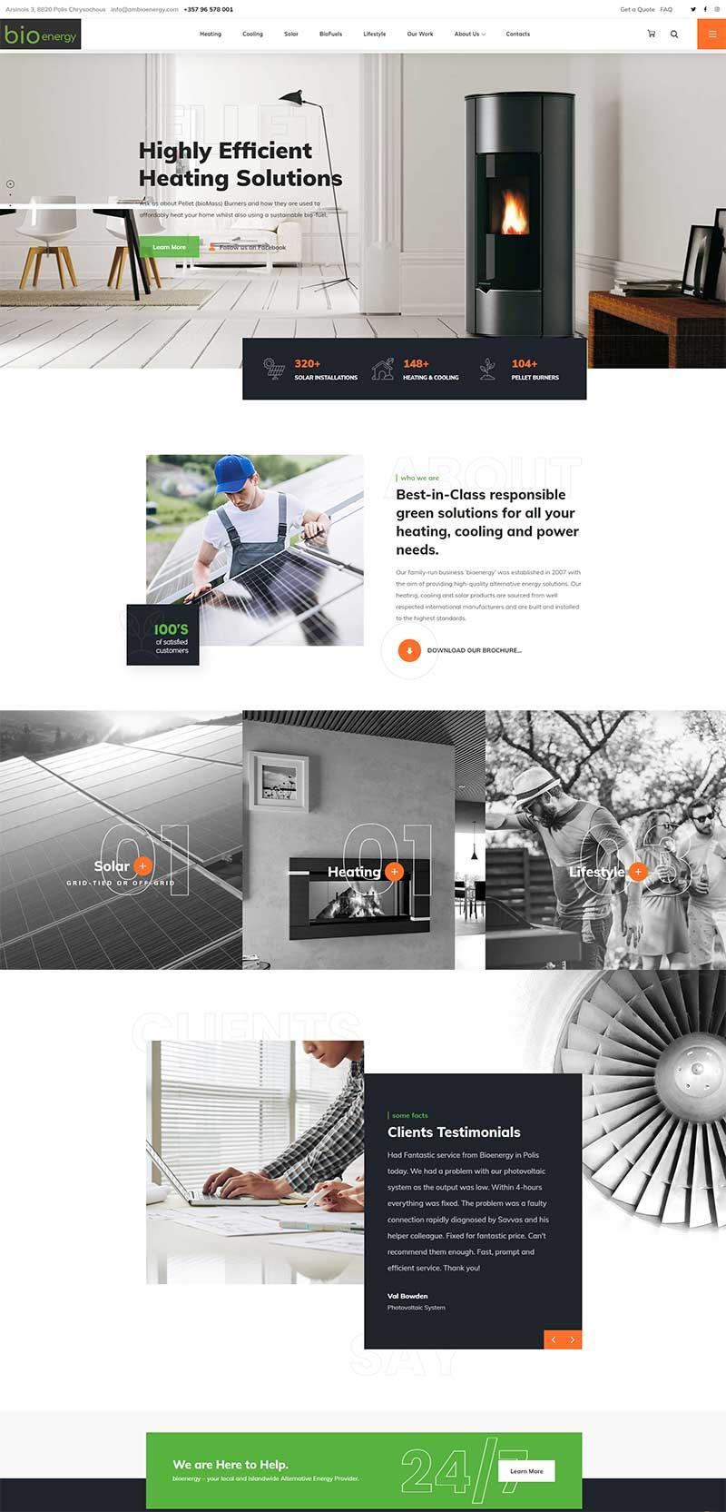 bioenergy website by gecko, cyprus website design